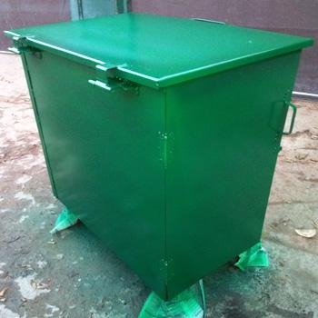 Металлический контейнер 0,8 м3 (с боковой дверцей)