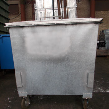 Оцинкованный евроконтейнер под мусорокамеры 0,8 м.куб.