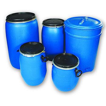 Пластиковая бочка для сбора и хранения батареек и аккумуляторов 50 литров
