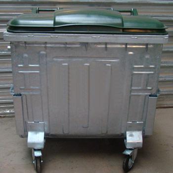 Оцинкованный контейнер 1100л. с пластиковой крышкой