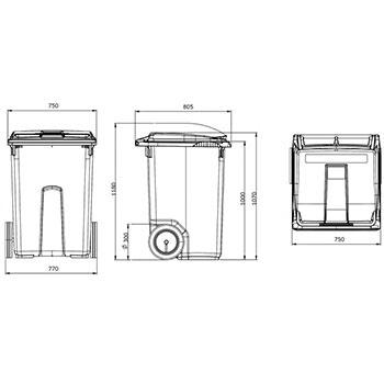 Мусорный контейнер MGB-370