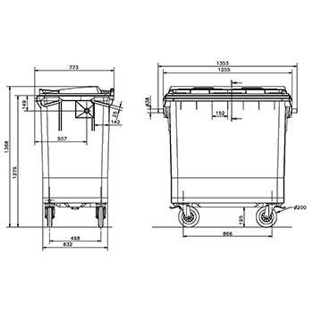 Мусорный контейнер MGB-770
