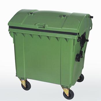 Мусорный контейнер 1100л. (с круглой крышкой)
