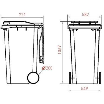 Мусорный контейнер MGBR-240