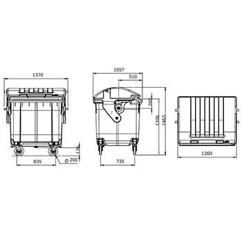 Мусорный контейнер MGB-1100(К)