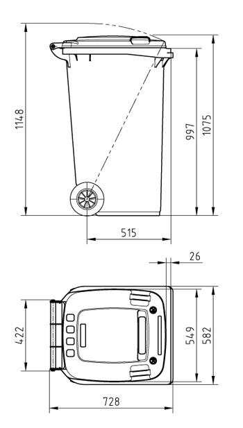 Мусорный контейнер MGBS-240