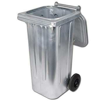 Оцинкованный евро контейнер для мусора 120л.