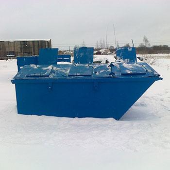 Контейнер 6 куб. м., с тросовым захватом под лебедку