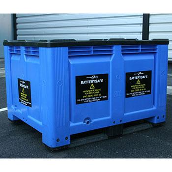 Пластиковый контейнер для хранения и транспортировки аккумуляторов, батареек 500 л.