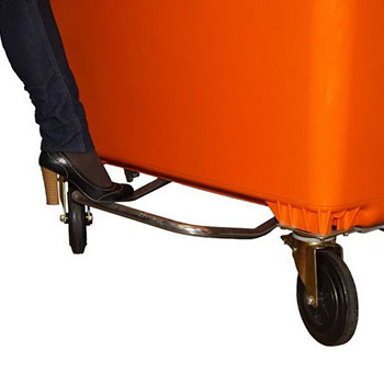 Педальный привод на контейнер 1100 литров