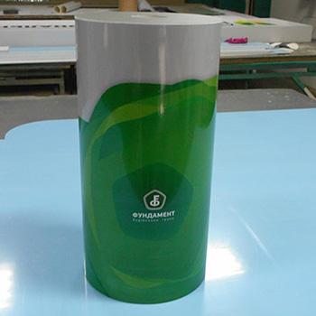 Пластиковый контейнер для использованных отработанных батареек (ВВ)