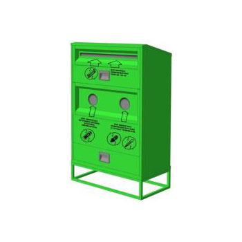 Контейнер для сбора, накопления и временного хранения отработанных компактных и линейных люминесцентных ламп, ртутьсодержащих и химических источников питания 800x400x1400