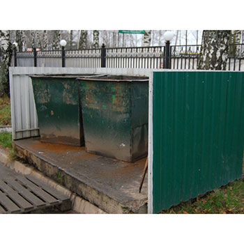 Экобокс КОНТЕЙНЕРНЫЙ ШКАФ для отходов (ОРИГИНАЛ)