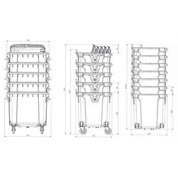 Мусорный контейнер 1100л. MGBS-1100 (пк/к)