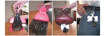 Совок-контейнер для сбора собачьих экскрементов