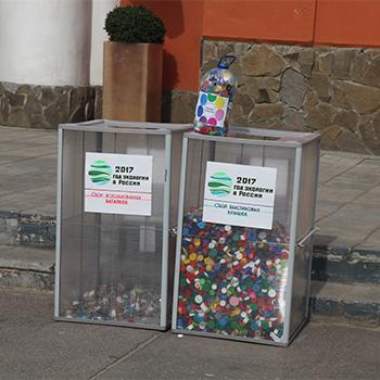 Контейнер для сбора пластиковых крышечек от бутылок (короб)