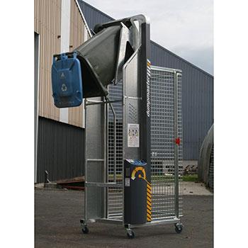 Опрокидыватель для пластиковых контейнеров на двух колесах 120/240/360 литров