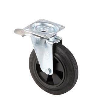 Колесо поворотное для оцинкованного мусорного контейнера 1100 литров или 1,1 м3 - 200 мм