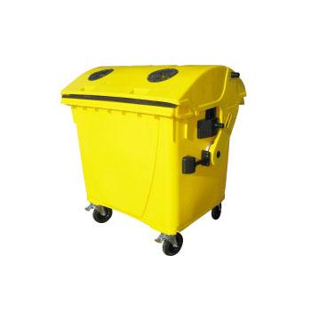Евроконтейнер для раздельного сбора мусора 1100л. (пластик, жесть, стекло)