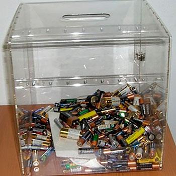 Контейнер для сбора батареек (короб)