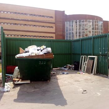Ограждение мусорной площадки (для бункера)