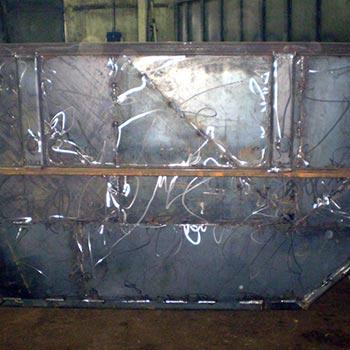 Бункер - кусковой 8 куб.м. (стенки 2 мм, дно 3 мм)