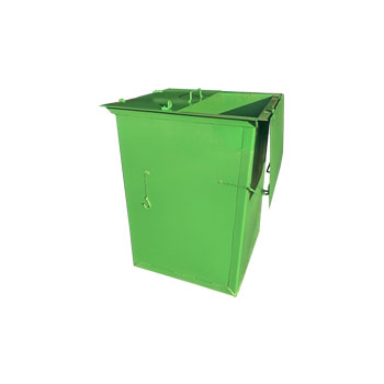 Металлический контейнер 0,8 м3 (с двойной крышкой)