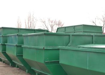 Бункер - накопитель 8 куб.м. (стенки 2 мм, дно 3 мм)