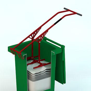 Устройство для ручного уплотнения отходов
