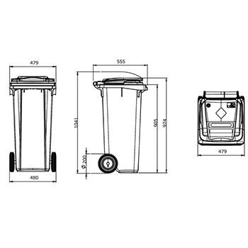 Мусорный контейнер MGB-120