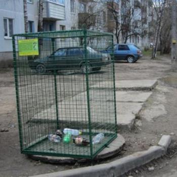 Сетчатые контейнеры для раздельного сбора мусора