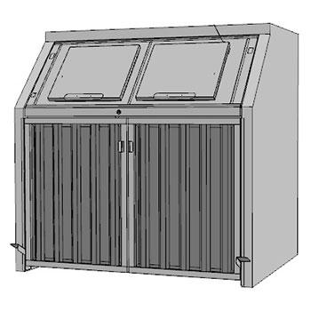 Контейнерный шкаф для приема и хранения ТБО