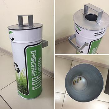 Контейнеры для сбора и хранения отработанных батареек (биг-батарейка)