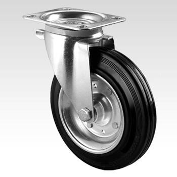 Колесо поворотное для металлического мусорного контейнера 0,75 и 0,8 м3 - 160 мм (УСИЛЕННОЕ)