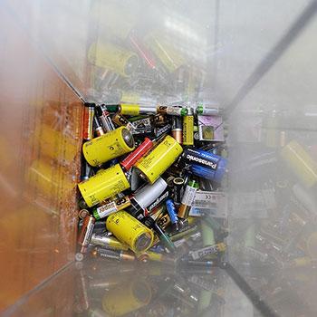 Ящик для отработанных батареек (миникороб)