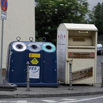 Контейнер уличный для сбора одежды (старых вещей, обуви) КСО-У