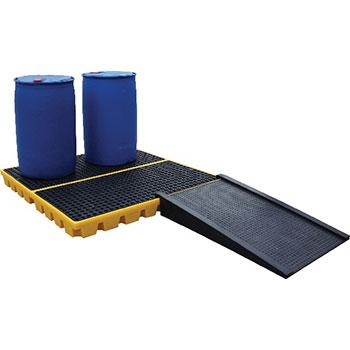 Платформа - контейнер на 4 х 205 л бочки, для ЛРТЖ, нагрузка до 2000 кг, емкость 240 л