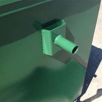 Металлический евроконтейнер для мусора 0,8 м3 (с еврозахватами)