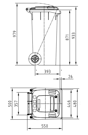 Мусорный контейнер MGBS-120