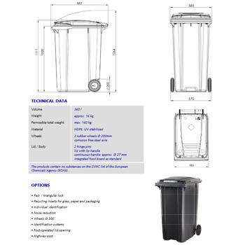 Мусорный контейнер MGB-360