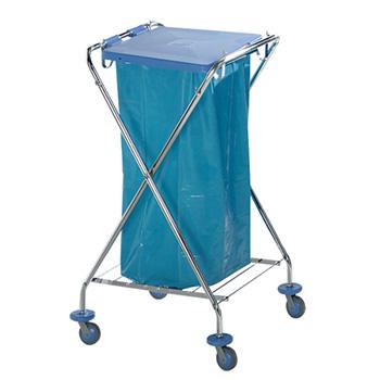 Стойка-тележка для транспортировки медицинских отходов в баках или пакетах на территории ЛПУ