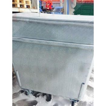 Мусорный контейнер для мусорокамеры 0,8м3 МК 080 оцинкованный