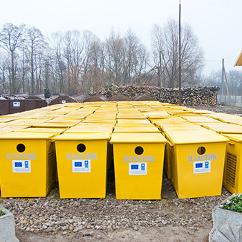 Контейнеры для раздельного сбора мусора металлические 750л. (бумага, пластик, стекло)