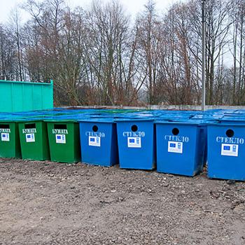 Контейнер для раздельного сбора мусора металлический 750л. (бумага)