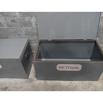 Ящик для ветоши КДВ3 0,3 м3 (стенки/дно 2 мм)
