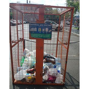 Сетчатые и сплошные разборные контейнеры для раздельного сбора мусора