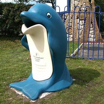 Детская безопасная урна Дельфин Splash