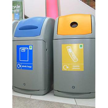 Урна для раздельного сбора мусора внутри помещений 140 литров