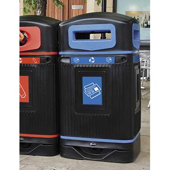 Урна для раздельного сбора мусора уличная с 4 отверстиями Jubilee
