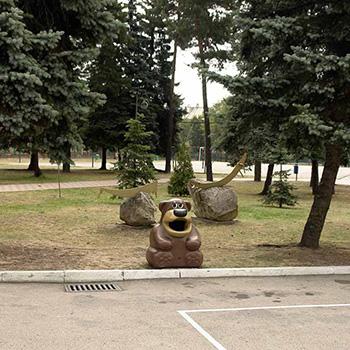 Детская безопасная урна медведь